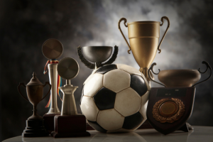 trophies w ball